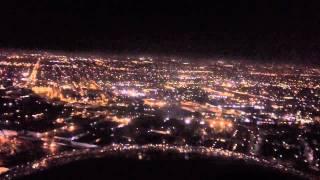 KSNA Night Landing with ATC & Cockpit Chatter
