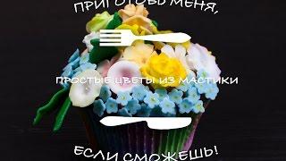 Простые цветы из мастики/Gum paste flowers