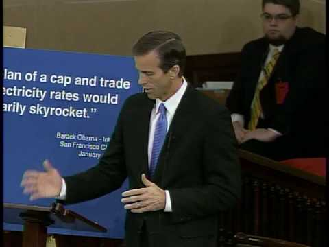 Senator John Thune Debates Cap and Trade Amendment on Senate Floor