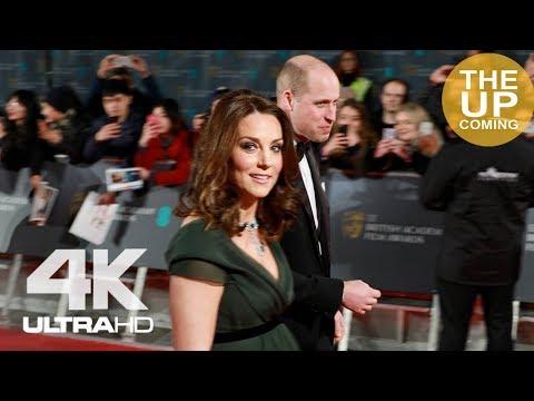 Royals arrival at BAFTAs: Kate says hi, with William