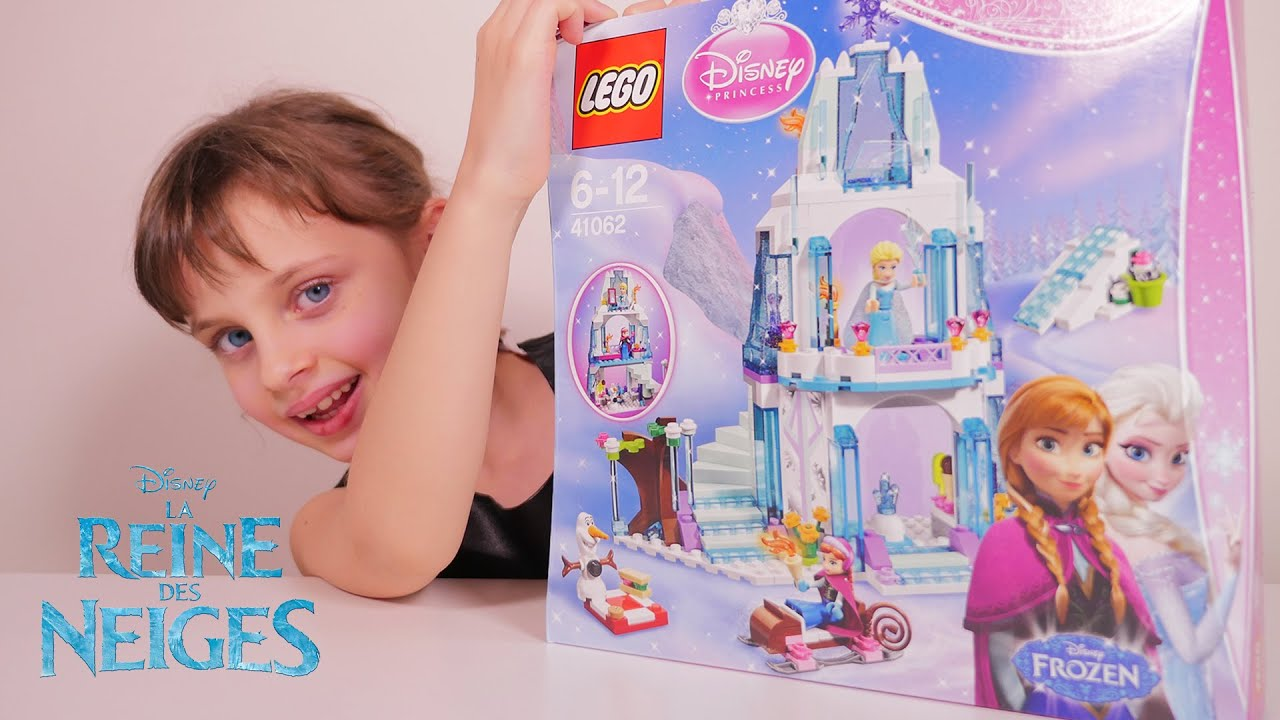 lego frozen le palais de glace delsa reine des neiges disney princess unboxing frozen toy