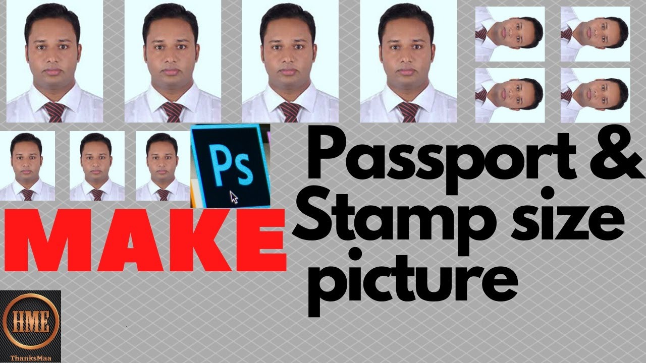 Make passport and stamp size photo in photoshop/Easy way ...