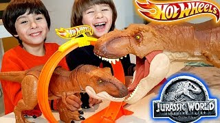 DESAFIO DANI y EVAN HOT WHEELS T-REX SUPER COLOSAL Jurassic World