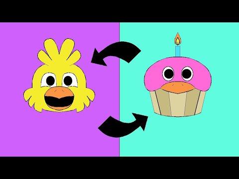 Minecraft Fnaf: Cupcake And Chica Switch Boddies (Minecraft Roleplay)