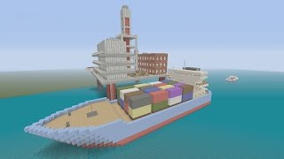 Minecraft xbox Epic Structures: A Per50n's Oil Rig and Cargo Ship