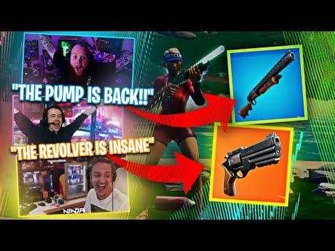 *NEW* LEGENDARY REVOLVER!! THE PUMP IS BACK?!! - Fortnite Battle Royale