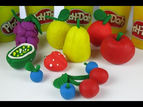 DIY Beautiful Play Doh Fruits Kiwi Grapes Lemon Strawberries Apple by Kids Wow Collector