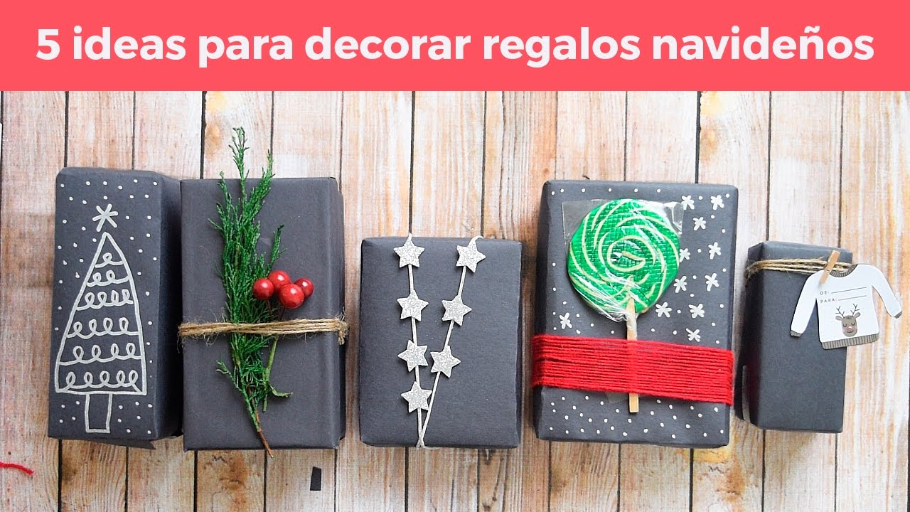Como decorar regalos navide os youtube - Decorar regalos navidenos ...