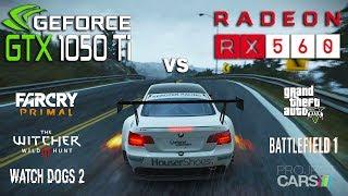 GTX 1050 Ti vs RX 560 Test in 6 Games (i5 7600k)