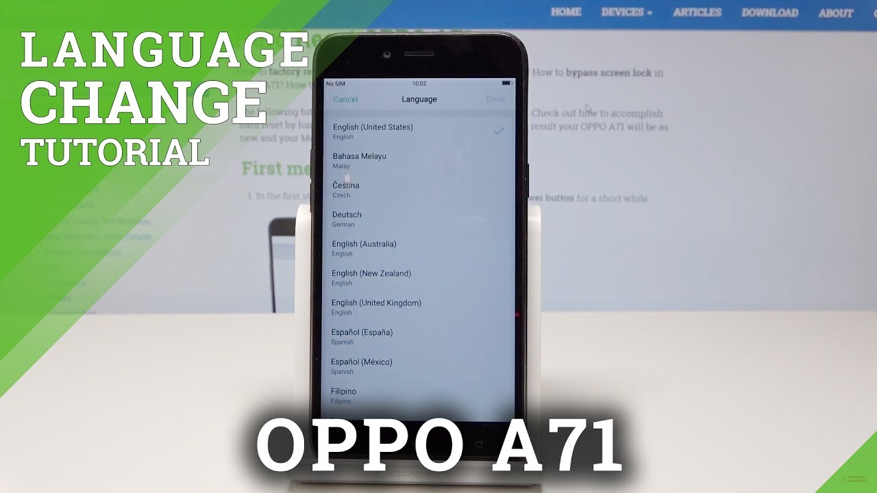 How to Change Language in OPPO A71 - Language Settings
