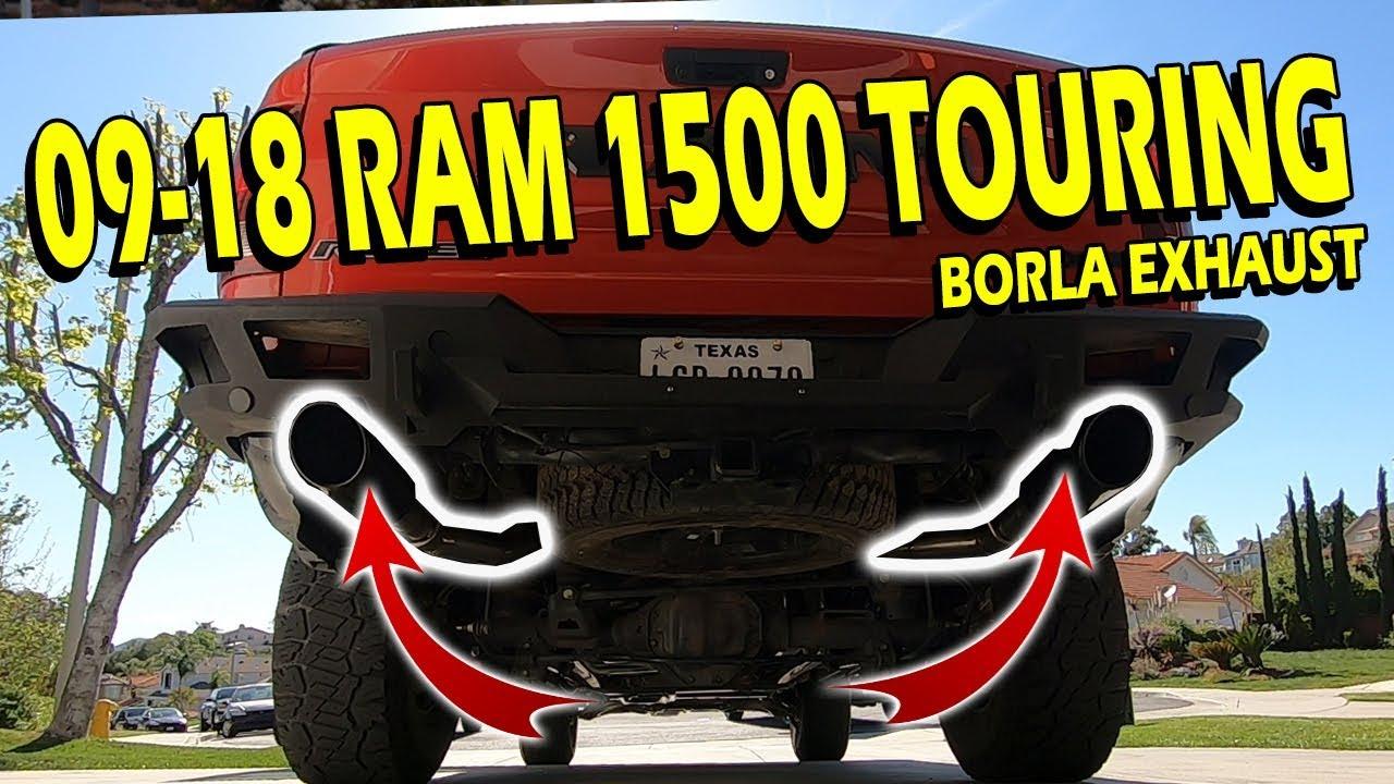 borla touring exhaust ram 1500 5 7hemi