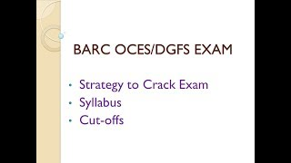BARC Exam - Strategy and Syllabus