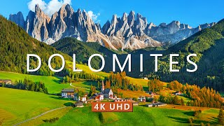 Visit the Dolomites in Italy (4K UHD)  Drone Film with Calming Music