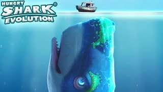 MELVILLE - NEW MOBY DICK SKIN UNLOCKED! || Hungry Shark Evolution [FHD-1080p]