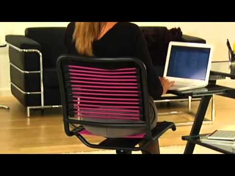 Bungee Office Chairs Yilan Chair Design Competition Euro Style Bungie Low Back Youtube