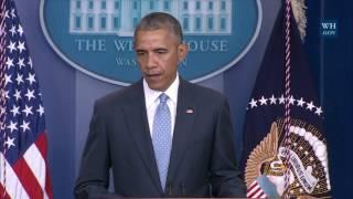 President Obama Delivers a Statement