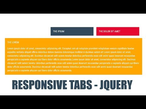 How To Create Simple JQuery Tabs - Responsive Tabs Using Css And JQuery