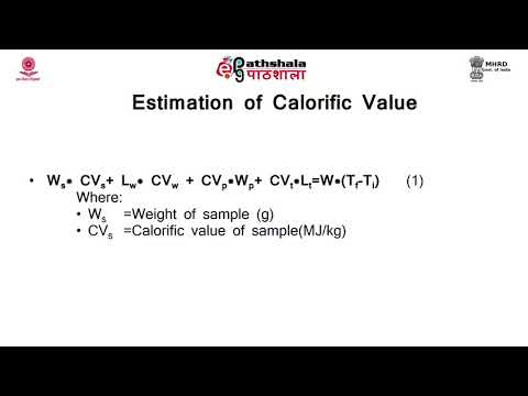 Calorific value of fuel