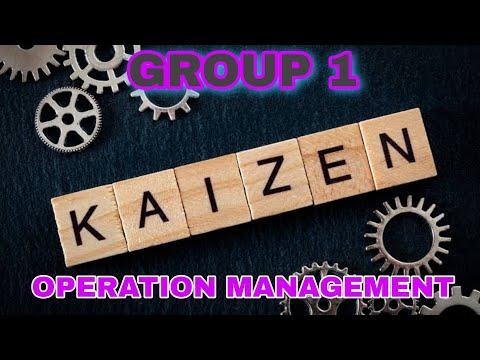 KAIZEN MODEL | OPERATION MANAGEMENT | Group 1