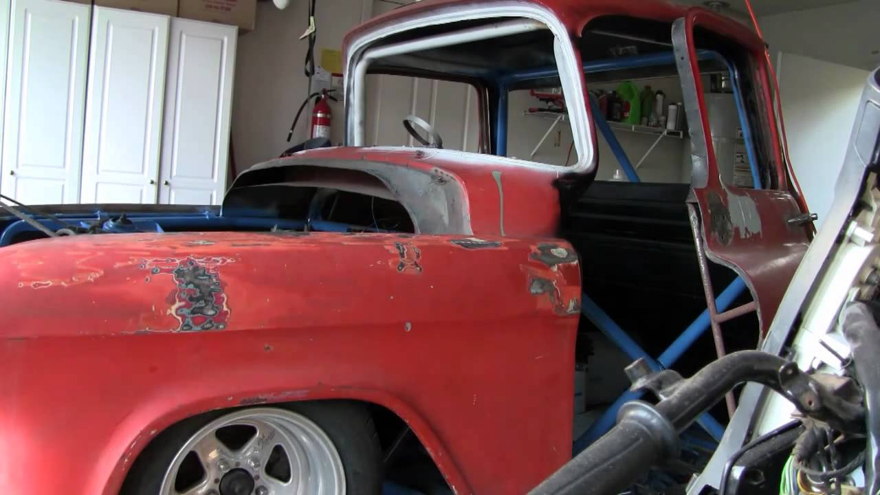 55 chevy truck tube chassis project status - YouTube