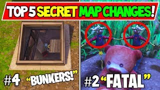 "*NEW* FORTNITE SECRET MAP CHANGES ""TOP 5 OF ALL TIME!"""