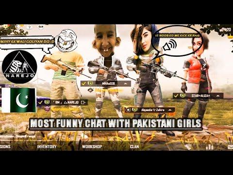 I FOUND 2 RANDOM PAKISTANI GIRLS IN PUBG MOBILE AND BEHAVE LIKE NOOB   FUNNY CHAT  NAREJO PUBG