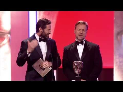 Hugh Jackman and Russell Crowe at the 2012 Bafta