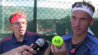 Matěj Vocel a Marek Gengel po výhře v semifinále na turnaji Futures v Ústí nad Orlicí