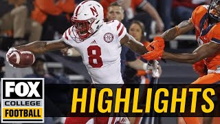 Nebraska vs Illinois | Highlights | FOX COLLEGE FOOTBALL