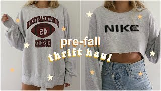 PRE-FALL THRIFT HAUL // Try-On!
