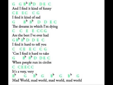 Mad World Lyrics and Notes
