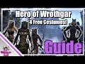 ESO: Hero of Wrothgar Achievement Guide! - 4 Free Costumes!