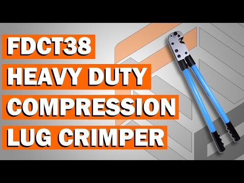 FDCT38 Heavy Duty Compression Lug Crimping Tool