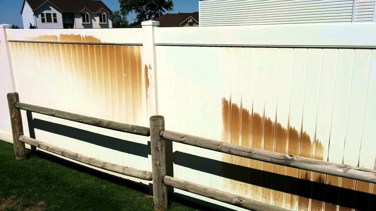 Vinyl Fence Cleaning Youtube