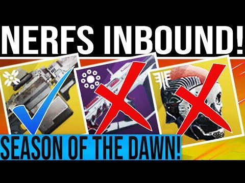 Destiny 2 News. MAJOR NERFS INCOMING! Exotic Buff, DLC Content Update, Season Of The Dawn & More!