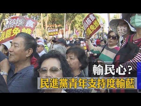 輸民心? 台灣智庫:民進黨青年支持度輸藍