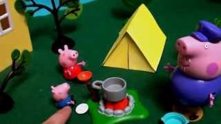Мультфильм 🔴Peppa Pig🔴  Свинка Пеппа. Ночлег в палатке