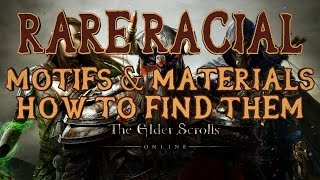 ESO | How to Find Rare Racial Motifs & Style Materials | Daedra Hearts Etc | Quick Tips 7 | PS4/Xbox
