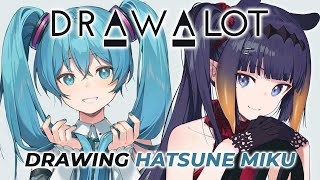 「DAL ITEMS Vol.1」DRAW A LOT×初音ミク Art by Ninomae Ina'nis(hololive EN) Supported by Wacom/CLIP STUDIO