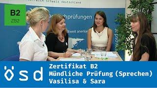 ÖSD Zertifikat B2 – Mündliche Prüfung (Sprechen)