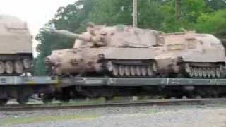 UNION PACIFIC MILITARY TRAIN CAMDEN AR..flv