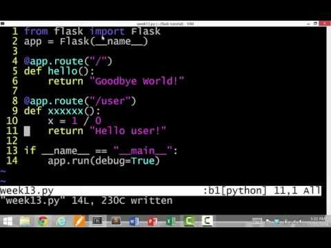 Flask Python Web application framework tutorial (1 of 3)