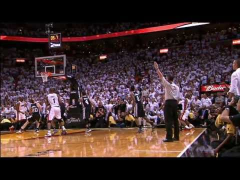 Ray Allen's Clutch Three from All Angles!