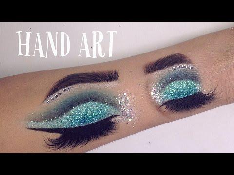 HAND ART MAKEUP | Speed Drawing - GINA MAKEUP