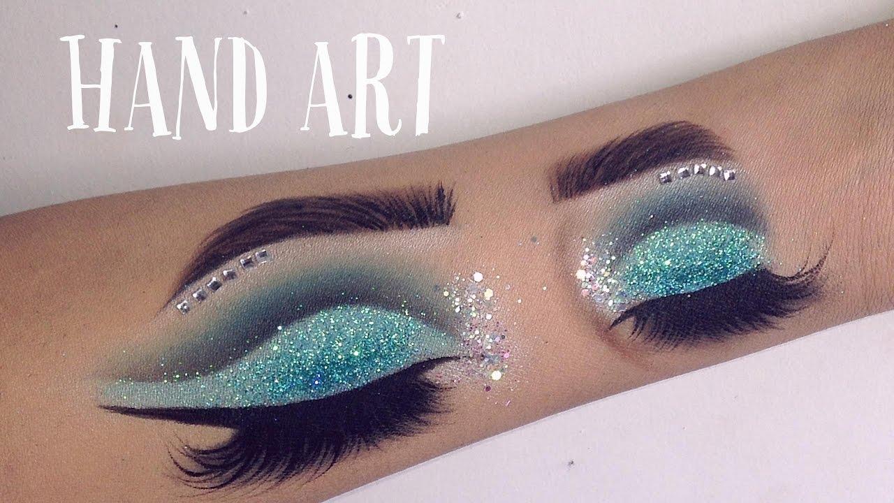 Hand art makeup speed drawing gina makeup