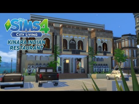 The Sims 4 City Living | Speed Build | Kinara Indian Restaurant