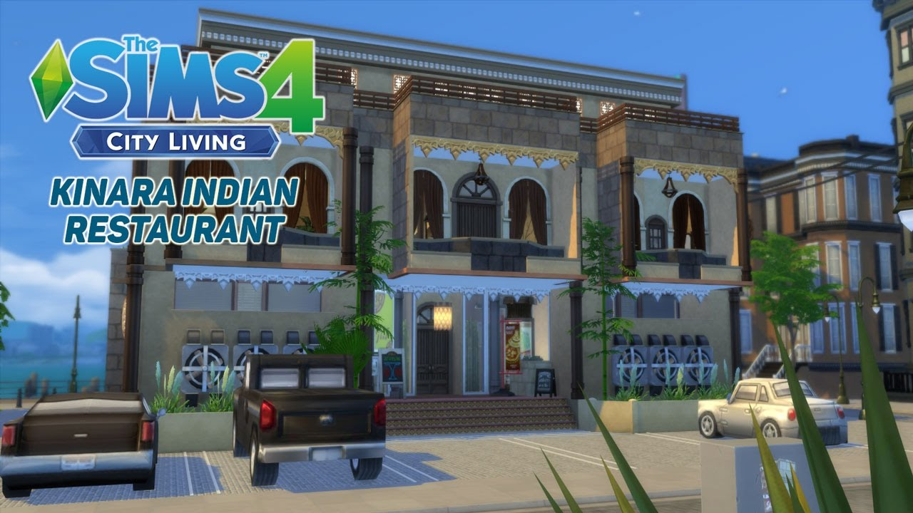 The sims 4 city living speed build kinara indian for Indian city restaurant