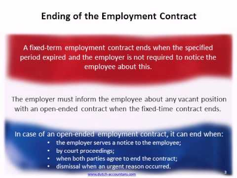 The Employment Contract in the Netherlands - by www.dutch-accountants.com