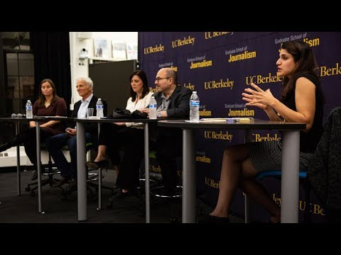 "Lily Jamali moderates a panel  at the UC Berkeley Graduate School of Journalism​: ""A Way Forward Restoring Public Trust in Journalism in the Age of Trump Oct 2018"""