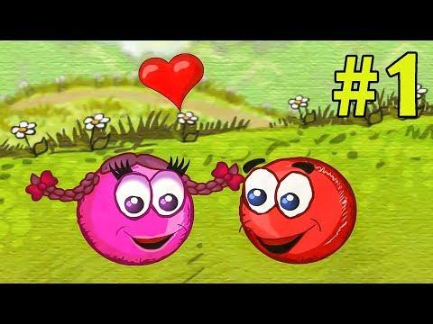 Несносный КРАСНЫЙ ШАР спасает любимую #1. Мультик ИГРА Red Ball 3 на Игрули TV